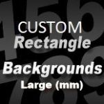 CUSTOM SIZE RECTANGLE STICKER BACKGROUND (large) - above 47.5cm long